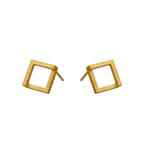 Geom Earrings Gold - earrings