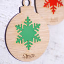 Snowflake Bauble in Frost Green