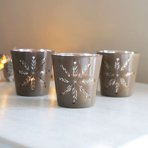 Silver And Copper Tealight - home accessories