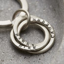 Personalised Silver Russian Ring Keyring