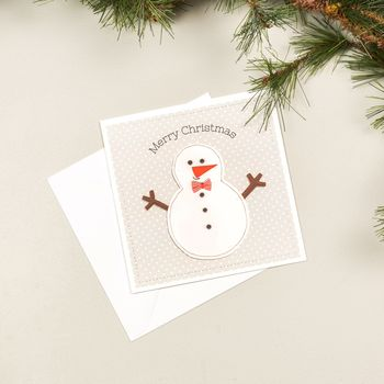 Single Or Pack Of Christmas Cards Snowman Design