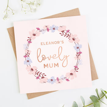 Personalised Mother's Day Card Mum