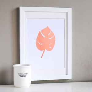 Tropical Leaf Copper Print - nature & landscape
