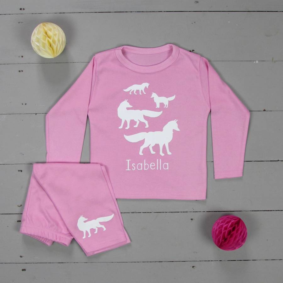 Personalised Pyjamas Fox Family
