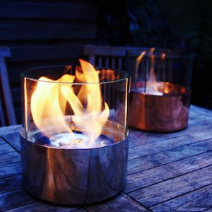 Copper Or Steel Tabletop Garden Lantern