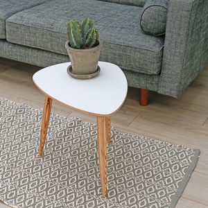 Pebble Shaped Mid Century Style Side Table