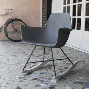 Hauteville Concrete Rocking Chair - office & study