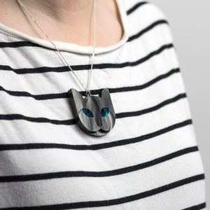 Grey Cat Necklace