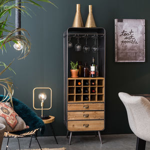 Dutchbone Vintage French Style Wine Cabinet - living room