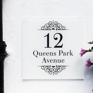 Personalised House Number Sign, Classic Elegance