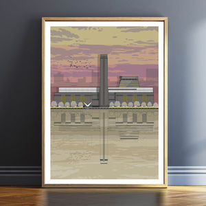 Tate Modern Sunset Architectural Print