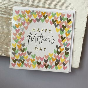 'Happy Mother's Day' Hearts Card