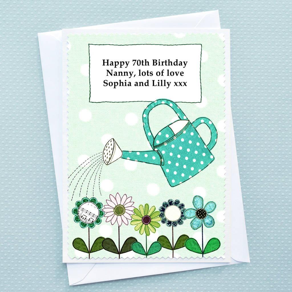 flowers personalised birthday card by jenny arnott cards gifts – Large Birthday Cards