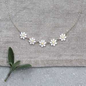 Forget Me Not Necklace In Solid Silver And 18ct Gold - necklaces & pendants