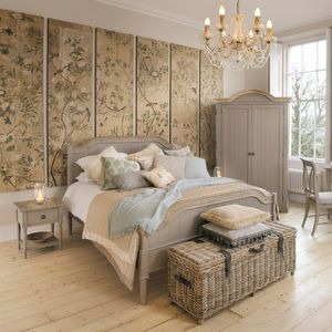 Warwickshire Bed Kingsize Grey Or Ivory - beds