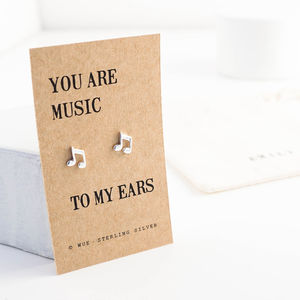 Music Silver Earrings