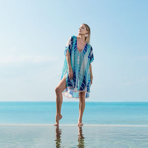 Frida Kaftan In Cloud - kaftans & cover-ups