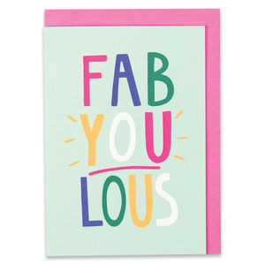 'Fab You Lous' Card