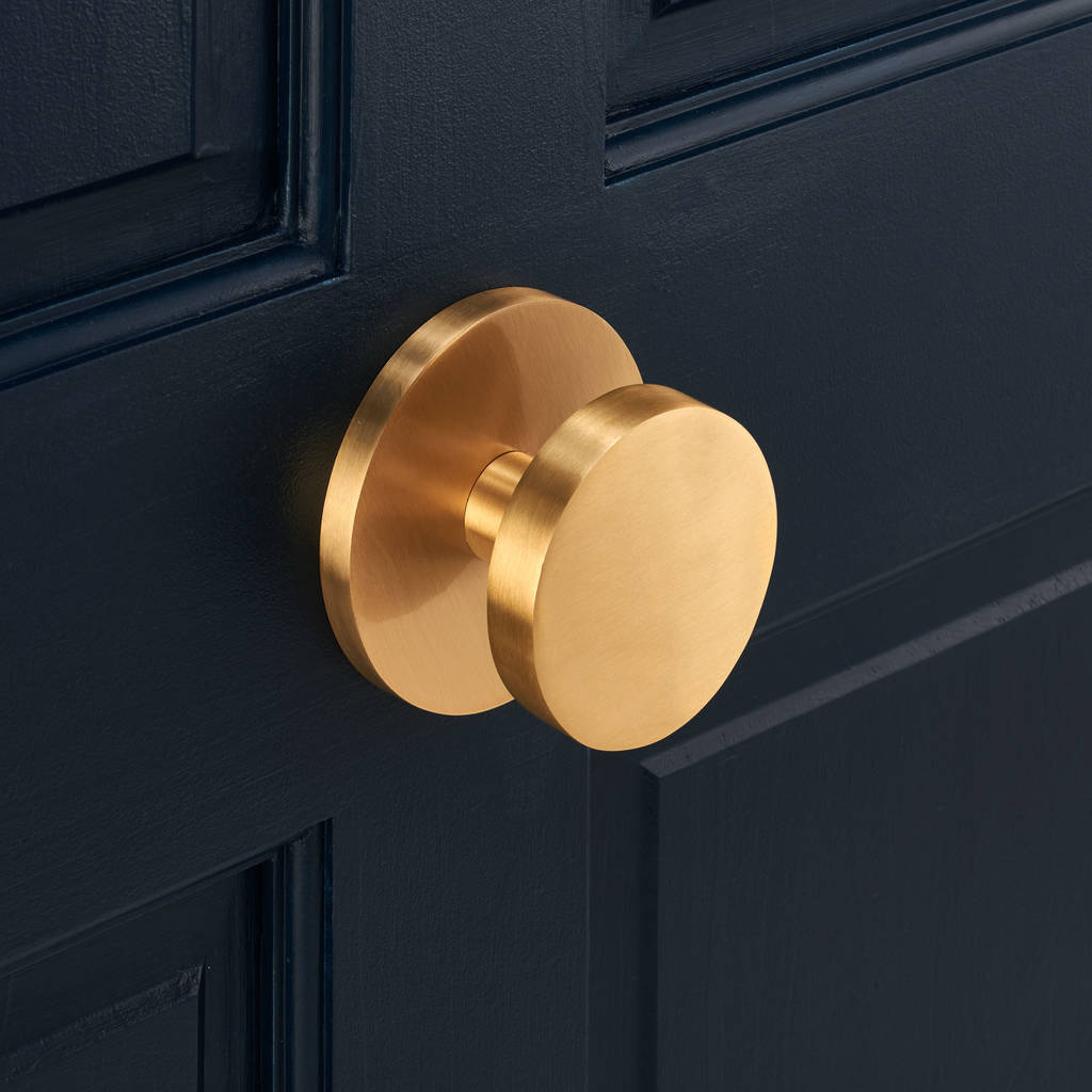 luxury solid brass gold circle centre door knob by pushka home ...