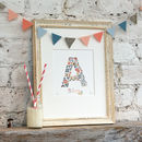 Personalised Letter And Name Nursery Print