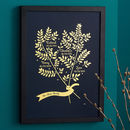 Personalised Metallic Family Branches Print