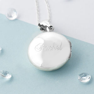 Personalised Round Sterling Silver Locket Necklace - necklaces & pendants