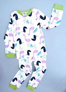 Children's Pyjamas Flamingo And Toucan - nightwear
