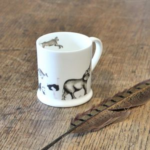 Procession Of Animals Bone China Mini Mug