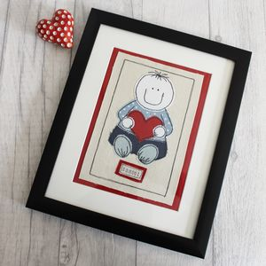 Boys Personalised Nursery Picture - mixed media & collage
