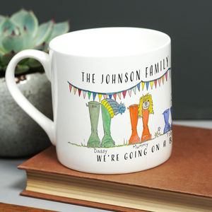 Welly Boot Family Mug - gifts for mothers