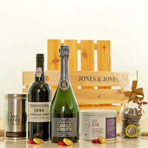 Christmas Champagne And Vintage Port Gift - food hampers