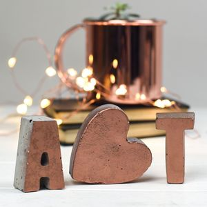 Personalised Copper Front Concrete Letters - home accessories