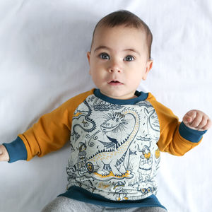 Organic Viking And Dragon Handmade Unisex Sweater - unisex baby gifts