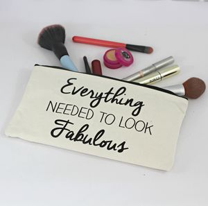 Fabulous Quote Make Up Bags - make-up & wash bags