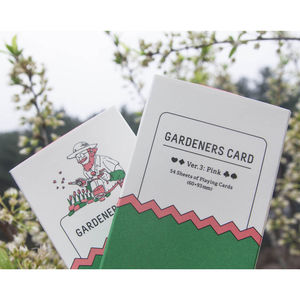 Limited Edition Illustrated Gardeners Playing Cards - shop by price