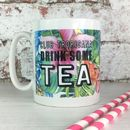 Personalised Club Tropicana Drink Some Tea Tropical Mug