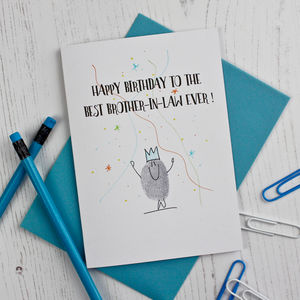 Brother In Law Birthday Card - birthday cards