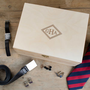 Personalised Mens Initial Accessories Box