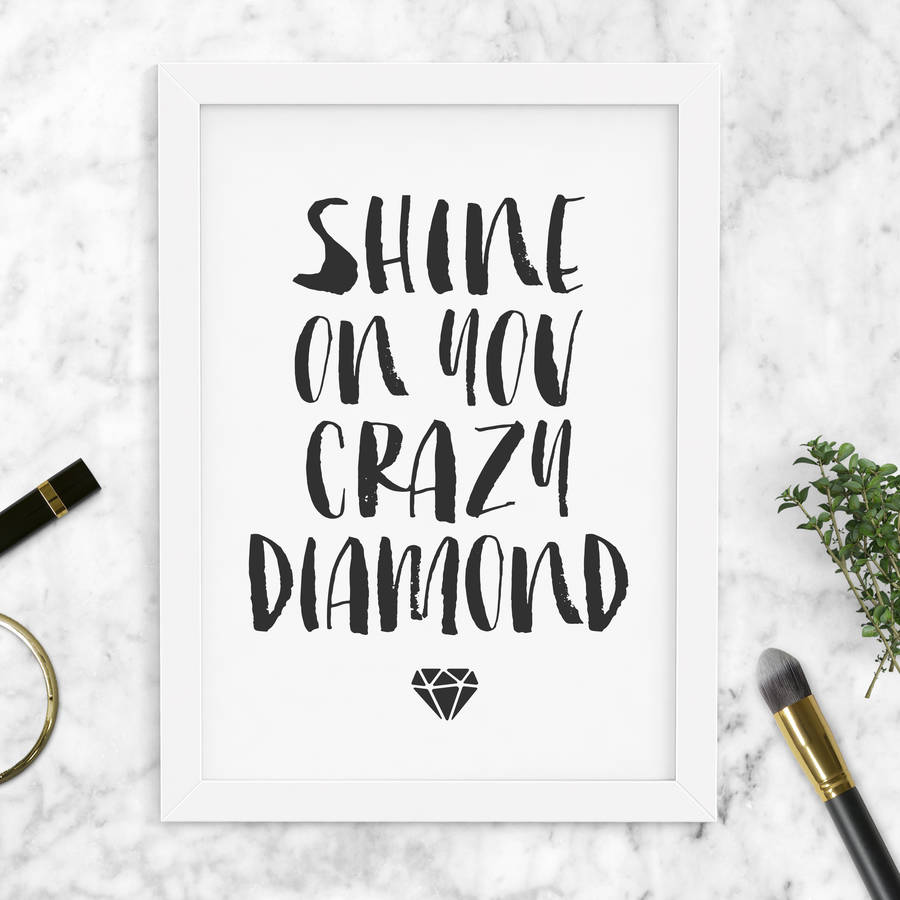 a vector print design shine quote stock inspirational image like diamond bright