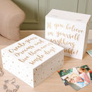 Personalised Dreams And Possibilities Keepsake Box