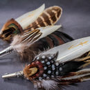 Country Style Feather Corsage Brooch Pins