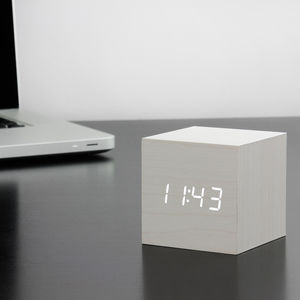 Cube Click Clock - bedroom