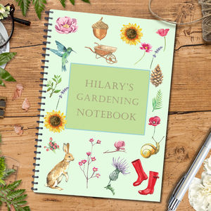 Personalised Notebook Gift For Gardeners - gardener
