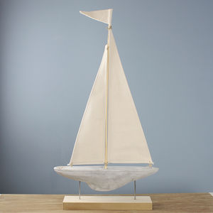 Concrete Sail Boat - home accessories