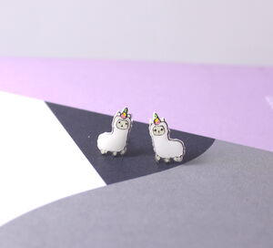 Alpaca Earrings In Sterling Silver