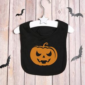 Halloween Pumpkin Bib - bibs