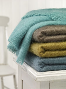 Mohair Throw - blankets & throws