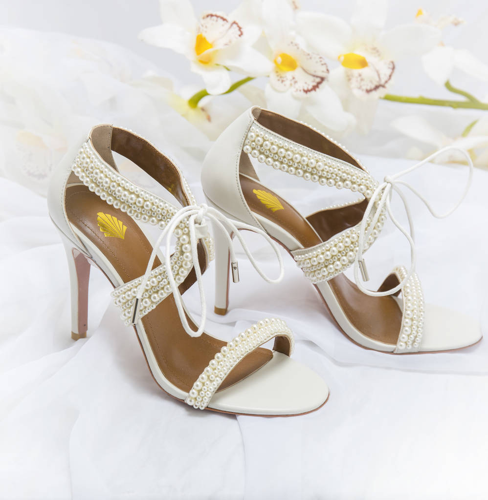 Maisie Ivory Pearl Wedding Shoes By Vintage Styler
