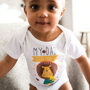 Personalised 'My Dad' Baby Grow For Fathers