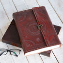 Handcrafted Indra A4 Embossed Leather Journal